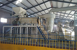 Jiamusi flat-die press production line installation site